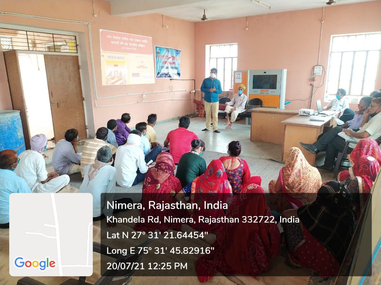 School Management Committee Members trained in Khandela, Sikar
