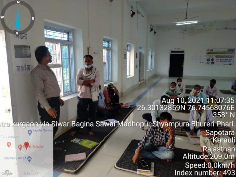 Orientation for Frontline Workers in Sapotara, Karaulis