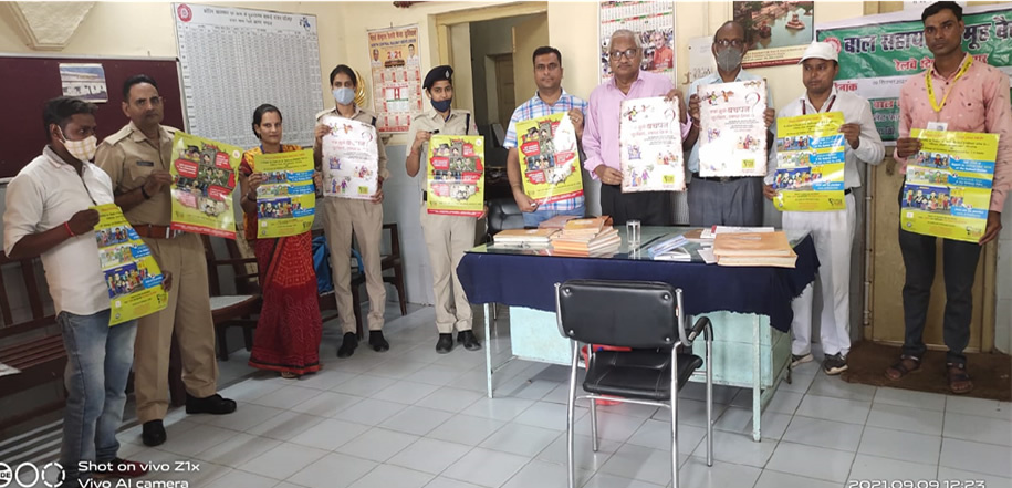 Child Help Group formed at Dhaulpur Railway Station